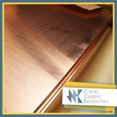 Лист бронзовый (плита) 4 мм ТУ 48-21-779-85, марка