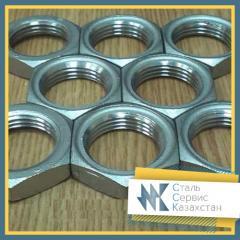 Контргайка стальная, размер 80 мм, ГОСТ 8968-75,