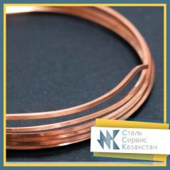 The wire is copper rectangular, the size is 1 mm,
