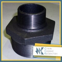 Ниппель двойной чугунный 15 мм ГОСТ 8958-75