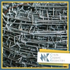 Barbed wire, size of 6 mm, GOST 285-69, galvanized