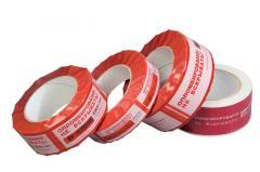 Sealing adhesive tape alarm