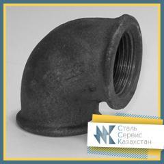 Угольник чугунный переходной, размер 25x15 мм,