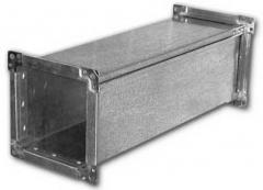 Air duct of rectangular section (direct parts)