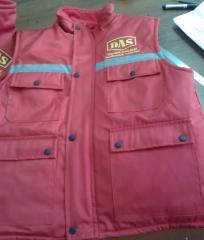 Vest the warmed men's