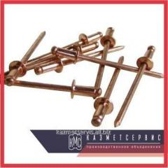 Copper rivet 4x6 MT DIN 7337