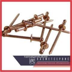 Copper rivet 6x8 MT DIN 7337