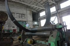 Production of arch products, rolling of a