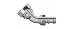 Фитинг PUSH-ON 45° Резьба BSP,  конус 60°