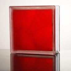 Стеклоблок JH 065 Misty In-colored red(красный матовый)