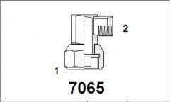 Адаптер 90° внутр. резьба / нар. рез. UNF 7065