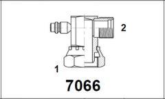 Адаптер 90° внутр. рез. / нар. рез. UNF с клапаном R134 7066