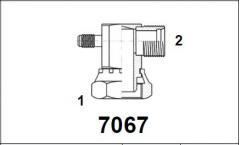 Адаптер 90° внутр. рез. / нар. рез. UNF с клапаном R12 7067