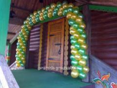 Оформление шарами и декор