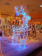 Олень из дюралайта Новогоднее оформление зданий в Алматы, арт. 15226770