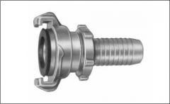 Соединение с фитингом к шлангу с предохраняющим кольцом PN 16 бар, расстояние 40 мм, латунь