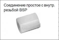 Соединение простое с внутр. резьбой BSP типа EM (серия 3F) PN 10 бар