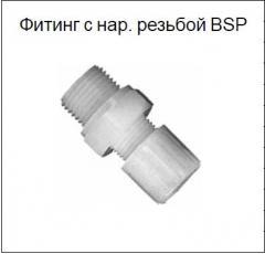 Фитинг с нар. резьбой BSP типа EM (серия 1A) PN 10 бар