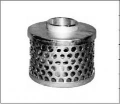 Цилиндрический фильтр с круглыми отверстиями, с резьбой BSPT