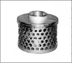 Цилиндрический фильтр с круглыми отверстиями, с фитингом для шланга
