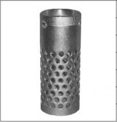Цилиндрический фильтр высокий с круглыми отверстиями, с резьбой BSPT