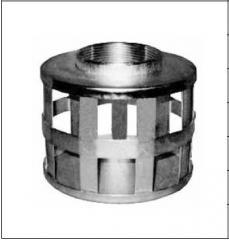Цилиндрический фильтр с квадратными отверстиями, с резьбой BSPT