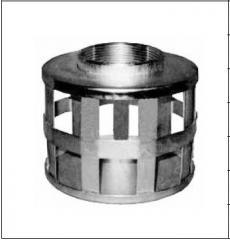 Цилиндрический фильтр с квадратными отверстиями, с резьбой NPT