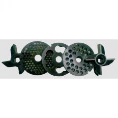 Комплект ножей и решеток мясорубки МИМ-600 (без бурта)