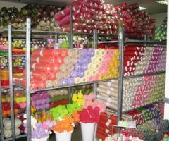 Цветочная фурнитура, упаковка, флористические материалы.