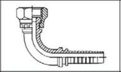 Резьба BSP, плоское уплотнение DKR-F 90