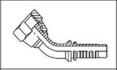Резьба BSP, плоское уплотнение DKR-F 45