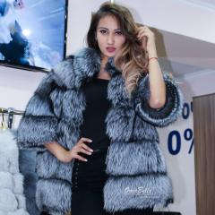 Fur coat from the silver fox by installments from