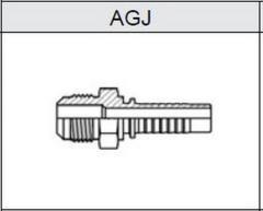 Фитинг JIC Резьба UNF, конус 74° AGJ