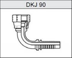 Фитинг JIC Резьба UNF, конус 74° DKJ 90