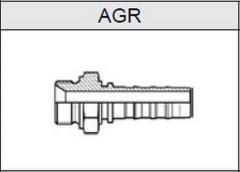 Фитинг TI-N NON SKIVE резьба BSP, конус 60°, o-ринг AGR