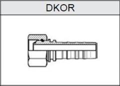 Фитинг TI-N NON SKIVE резьба BSP, конус 60°, o-ринг DKOR