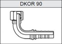 Фитинг TI-N NON SKIVE резьба BSP, конус 60°, o-ринг DKOR 90