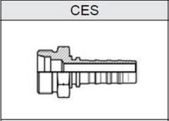 Фитинг TI-N NON SKIVE резьба метрическая, конус 24°, o-ринг, серия тяжелая (S) CES