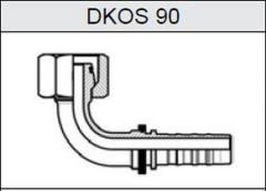 Фитинг TI-N NON SKIVE резьба метрическая, конус 24°, o-ринг, серия тяжелая (S) DKOS 90