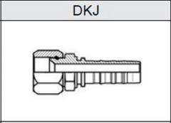 Фитинг TI-N NON SKIVE JIC Резьба UNF, конус 74° DKJ