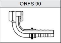 Фитинг TI-N NON SKIVE резьба UNF, плоское уплотнение ORFS 90