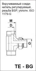 Вкручиваемый соединитель регулируемый, резьба BSP, уплотн. ISO 1179-G TE - BG