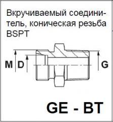 Вкручиваемый соединитель, коническая резьба BSPT GE - BT DIN 2353 Walterscheid™