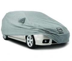 Covers on the car, car outside covers
