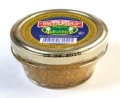 Caviar of a pike Amber