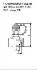 Измерительное соединение M16x2 в соот. с DIN 3865, конус 24°