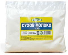 Сухое молоко 1, 5% Paknar 500г,  487000410199