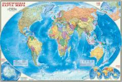Политическая Карта Мира Наст.Лам.101*69 1:27,5000000