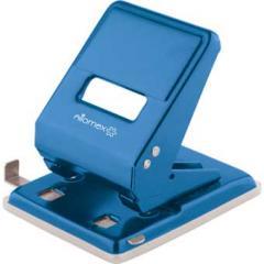 Дырокол Attomex На 45л. с планкой, синий