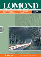 Бумага для фотопечати А4 Lomond 130Г.025л. матовая 2-сторона